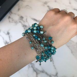 H&M Blue Bead Bracelet